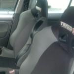 El interior del Volkswagen Jetta de Carlos Jaramillo que ganó en dos ocasiones la categoría extrema.