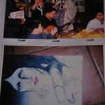 En la foto de arriba Leonel Mera toca la guitarra durante el Día de Reyes en España, debajo uno de sus dibujos.